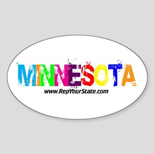 Colorful Minnesota Oval Sticker