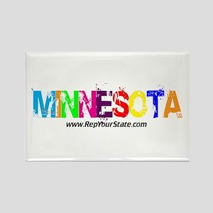 Colorful Minnesota Rectangle Magnet