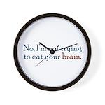 Eat Your Brain Wall Clock