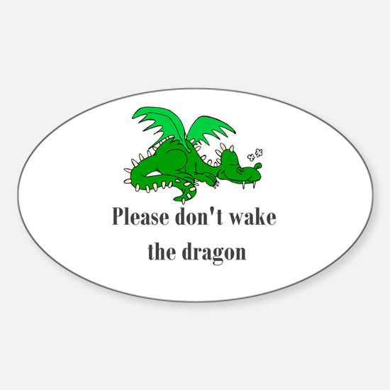 Sleeping Dragon Oval Decal