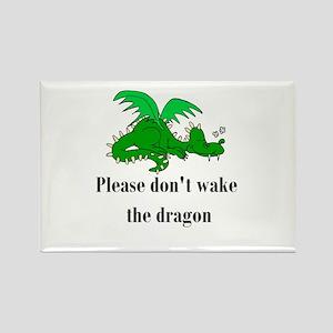 Sleeping Dragon Rectangle Magnet