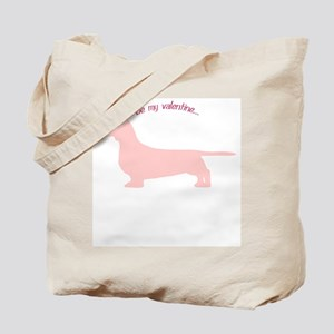 Doxie... Be My Valentine Tote Bag