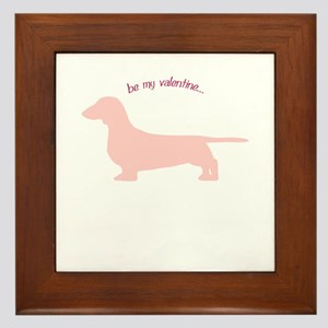Doxie... Be My Valentine Framed Tile