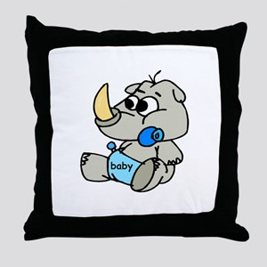 Baby Rhino Throw Pillow