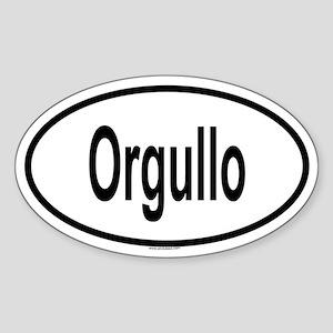 ORGULLO Oval Sticker