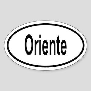 ORIENTE Oval Sticker