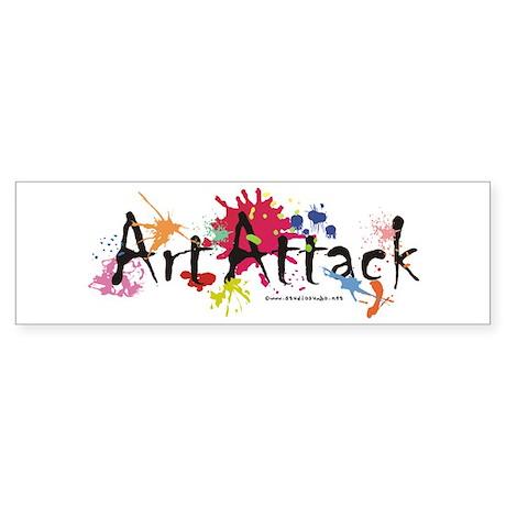 Art Attack Artist Sticker (Bumper)