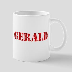 Gerald Rustic Stencil Design Mugs