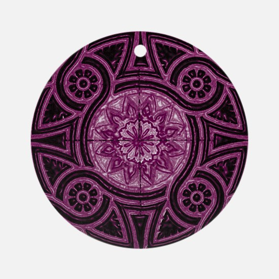 Violet Abstract 1 Keepsake (Round)