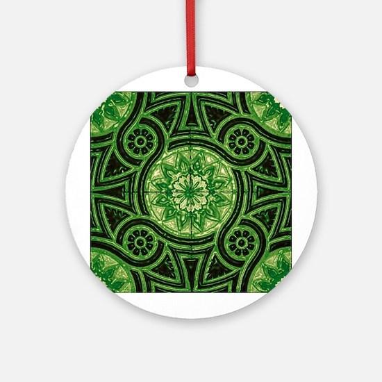 Green Abstract 1 Keepsake (Round)