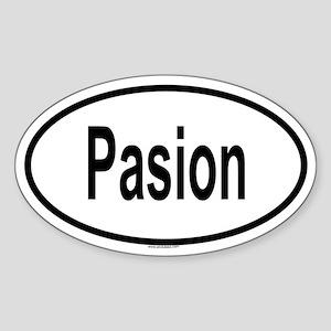 PASION Oval Sticker