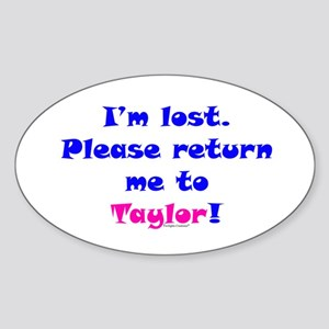 Lost, Return to Taylor Sticker (Oval)