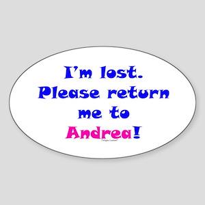 Lost, Return to Andrea Sticker (Oval)
