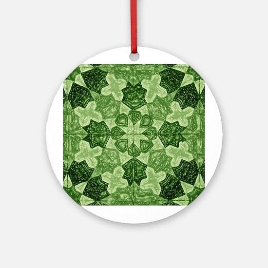 Green Abstract 2 Keepsake (Round)
