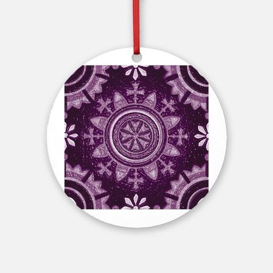 Violet Abstract 3 Keepsake (Round)