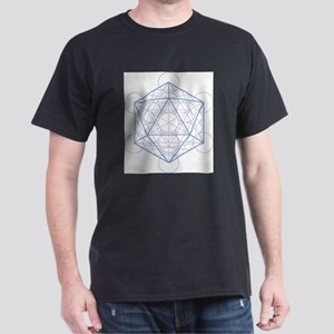 Ash grey T-shirt with Icosahedron T-Shirt
