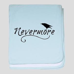 Nevermore in Blk baby blanket