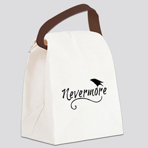 Nevermore in Blk Canvas Lunch Bag