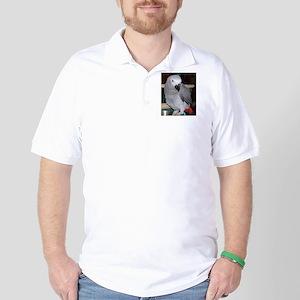 African Grey Golf Shirt