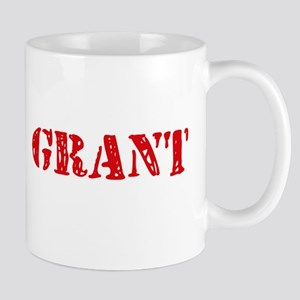 Grant Rustic Stencil Design Mugs