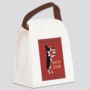 Boston Red Table Wine Canvas Lunch Bag