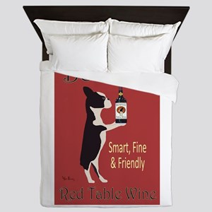 Boston Red Table Wine Queen Duvet