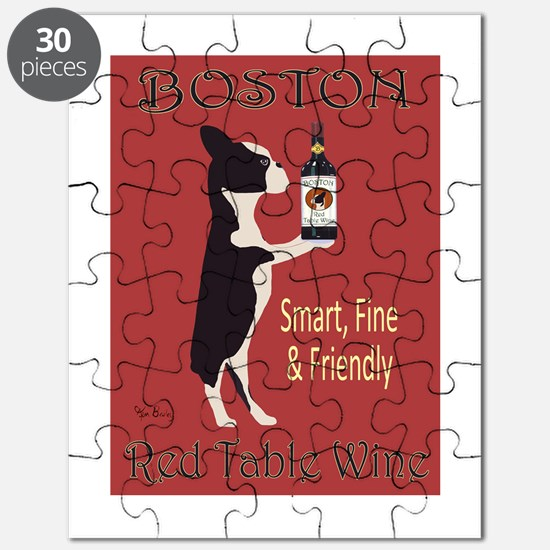 Boston Red Table Wine Puzzle
