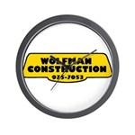 Wolfman Construction Wall Clock