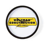 Wolfman Construction Wall Clock