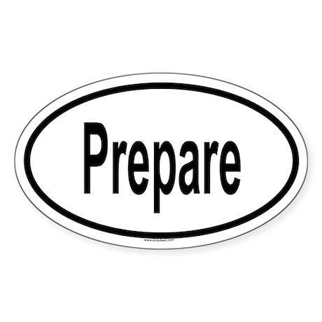 PREPARE Oval Sticker