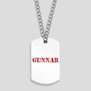Gunnar Rustic Stencil Design Dog Tags
