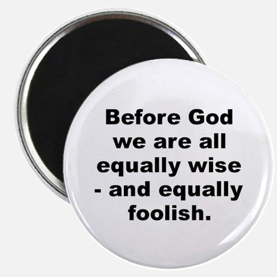 Einstein quotation Magnet