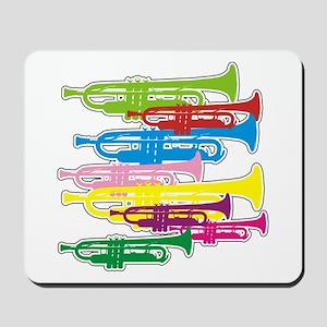 Trumpets Colors Mousepad
