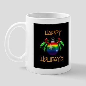Rainbow Happy Holidays Mug