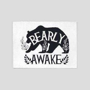 Bearly Awake 5'x7'Area Rug