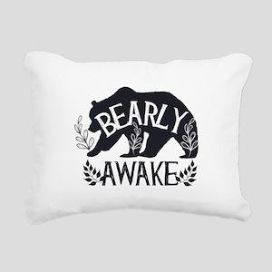 Bearly Awake Rectangular Canvas Pillow