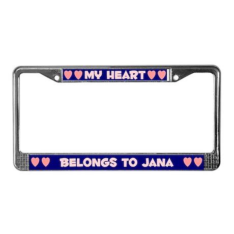My Heart: Jana (#008) License Plate Frame
