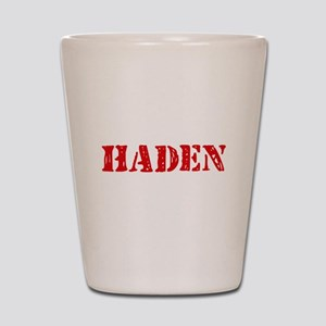 Haden Rustic Stencil Design Shot Glass