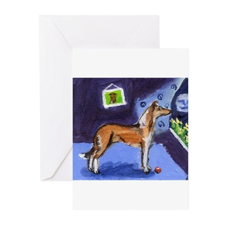 SMOOTH COLLIE sable moon Greeting Cards (Package o