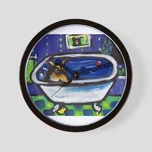 SMOOTH COLLIE bath Wall Clock