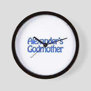 Alexander's Godmother Wall Clock