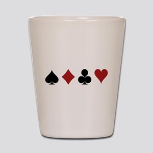 Four Card Suits Symbol Shot Glass