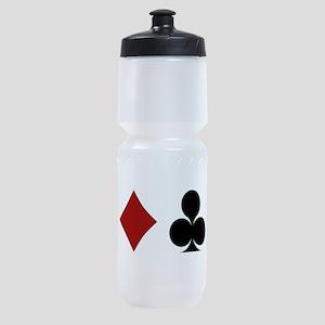 Four Card Suits Symbol Sports Bottle