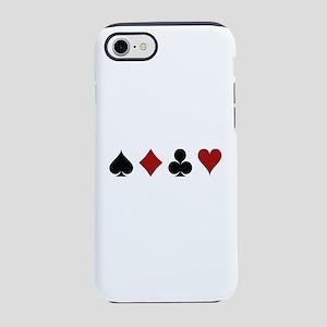 Four Card Suits Symbol iPhone 8/7 Tough Case