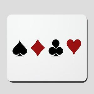 Four Card Suits Symbol Mousepad