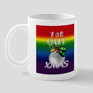 1st Out Xmas Rainbow Mug