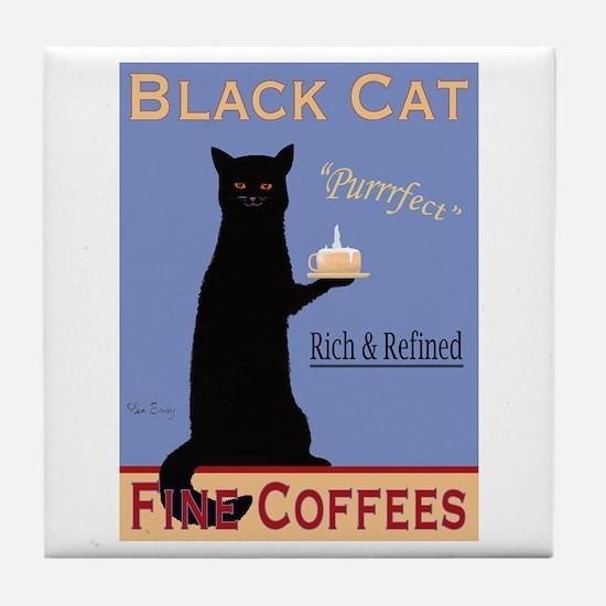 Black Cat Fine Coffees Tile Coaster