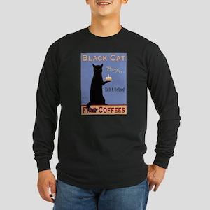 Black Cat Fine Coffees Long Sleeve Dark T-Shirt