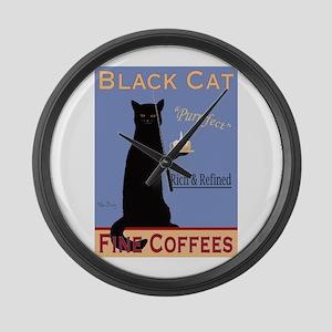 Black Cat Fine Coffees Large Wall Clock