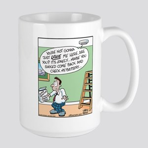 Sensitive Smoke Alarm Large Mug